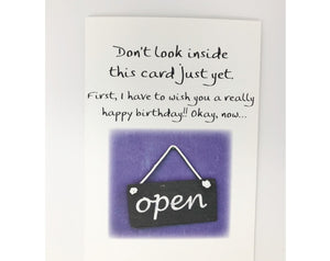 Card - Don't Look Inside This Card Just Yet