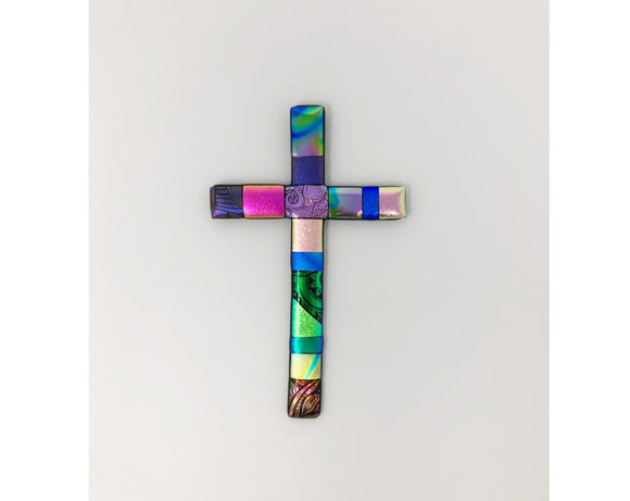Cross - Dichroic Glass by Lohrding Design