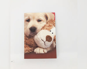 Puppy and Bear Valentine's Day Card