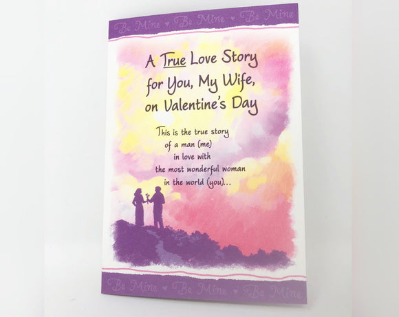 A True Love Story For You My Wife On Valentine's Day - Valentine's Day Card