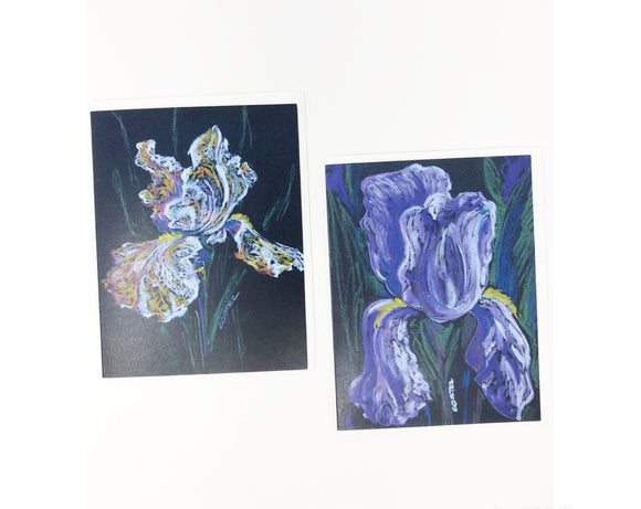Card - Iris (Set Of Two Blank Cards)