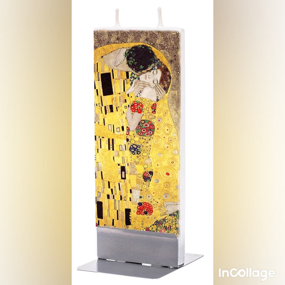 Candle - Klimt The Kiss Flatzy Candle