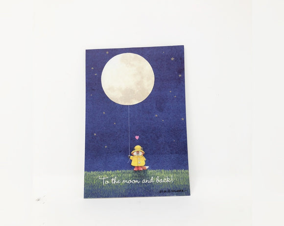 To the Moon and Back Valentine's Day Card