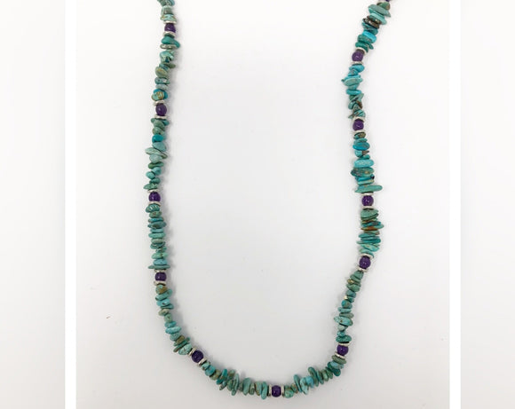 Turquoise Chip Strand Necklace