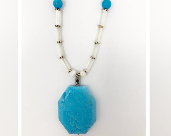 Turquoise and Mother of Pearl Necklace