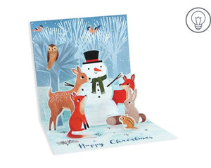 Forest Snowman Pop Up Holiday Card