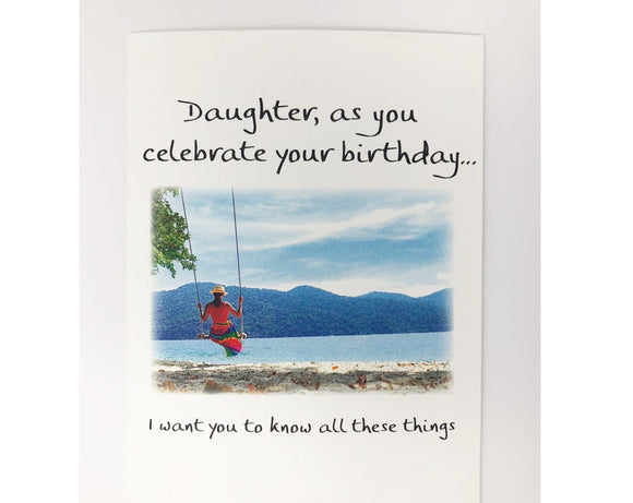 Card - Daughter, as you celebrate your birthday