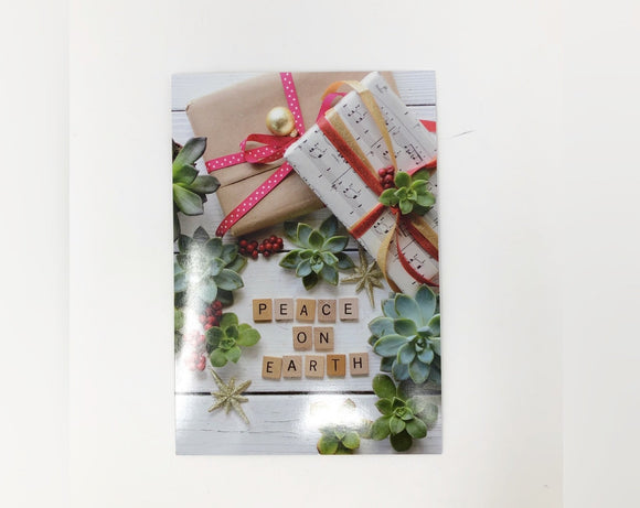 Peace on Earth Scrabble Pieces Holiday Card