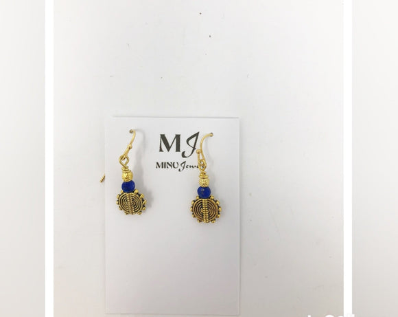 Lapis and Gold Accent Earrings