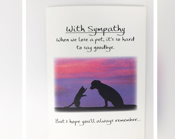 Card - With Sympathy, When We Lose a Pet