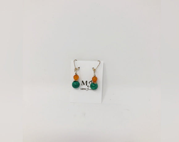 Green and Orange Earrings