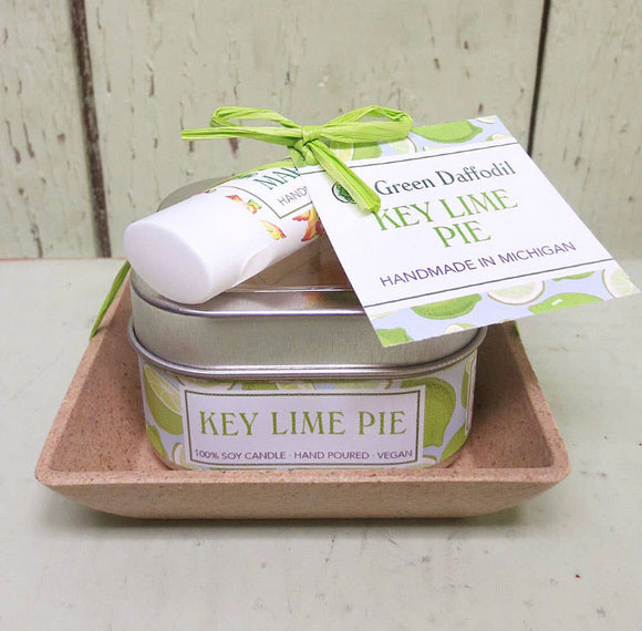Key Lime Pie Candle and Lip Balm Gift Set