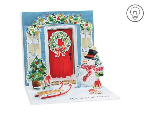 Festive Door Pop Up Holiday Card