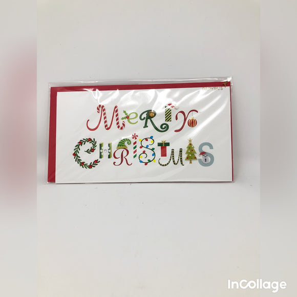 Festive Merry Christmas Holiday Card
