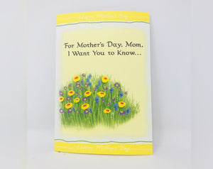 For Mother's Day, Mom, I Want You to Know Mother's Day Card