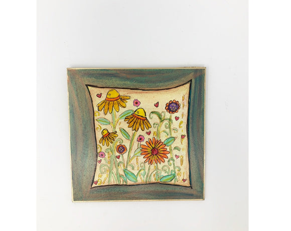 Plaque -  Sunflowers
