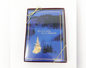 Boxed Holiday Cards-All Is Calm All Is Bright