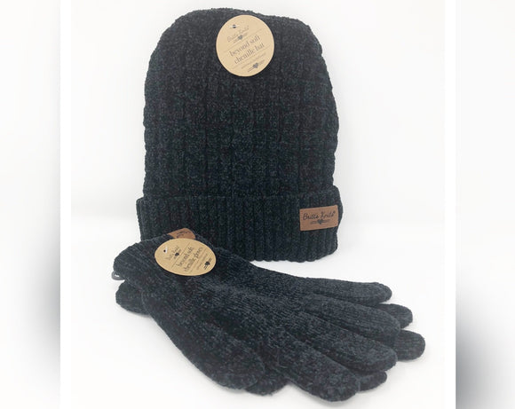 Chenille Hat And Glove Set (More Colors Available)