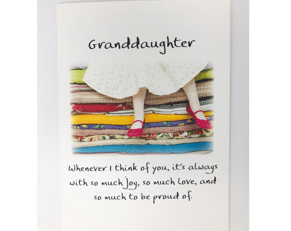Card - Granddaughter Whenever I Think of You