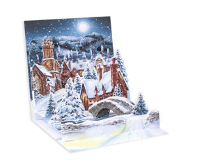 Midnight Village Pop Up Holiday Card