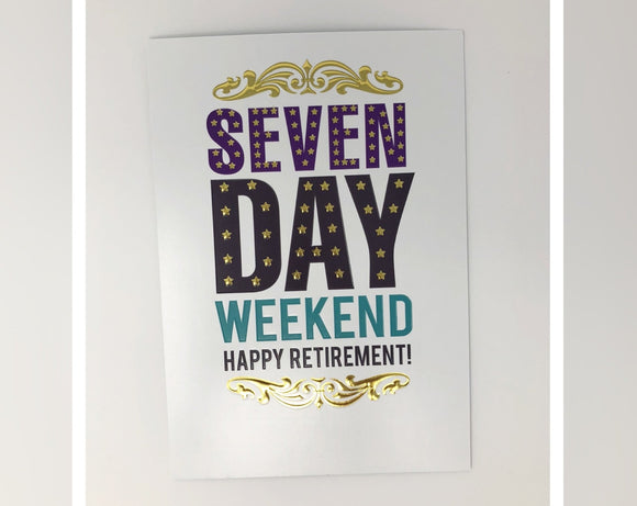 Card - Seven Day Weekend