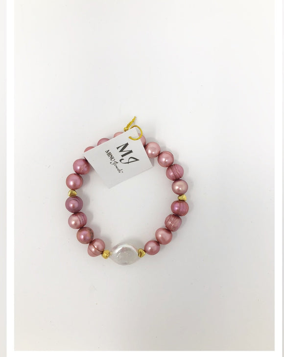 Pearl Stretch Bracelet (Multiple Colors Available)