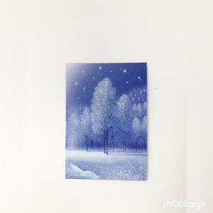 Blue Winter Scene Holiday Card