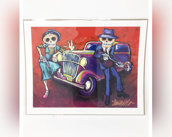 Dia de los Muertos Original Print - Hot Rod Gangsters