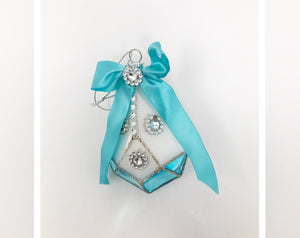 Tiffany Blue Inspired Drop Ornament