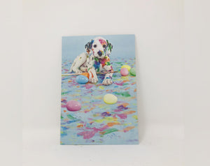 Painted Dog Easter Card