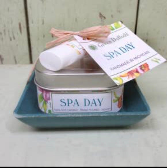 Spa Day Candle and Lip Balm Gift Set