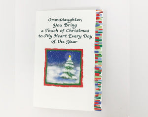 Granddaughter, You Bring a Touch of Christmas to My Heart Holiday Card