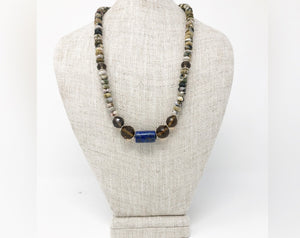 Ocean Jasper and Smoky Quartz Necklace