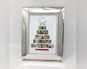 Imagiframes Christmas Word Art Picture (Silver)