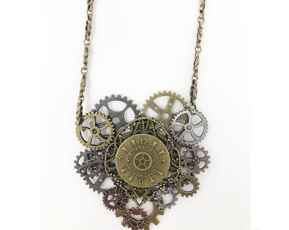 Steampunk Large Heart Necklace