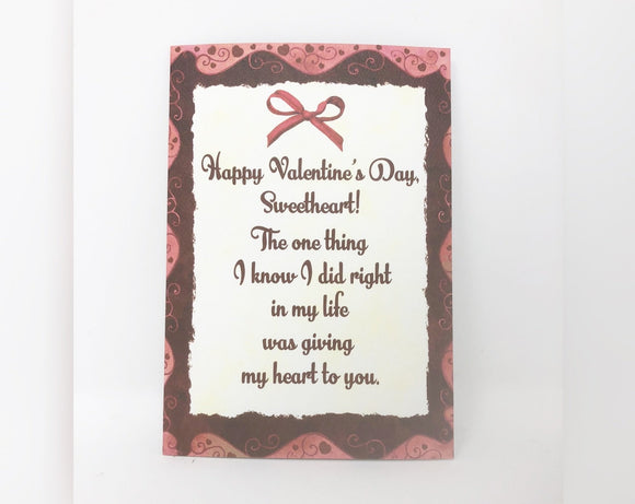 Happy Valentine's Day Sweetheart - Valentine's Day Card