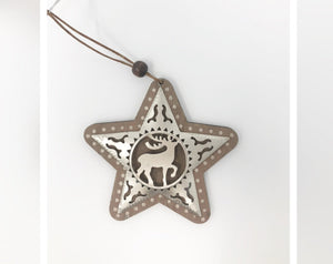 Reindeer Star Ornament
