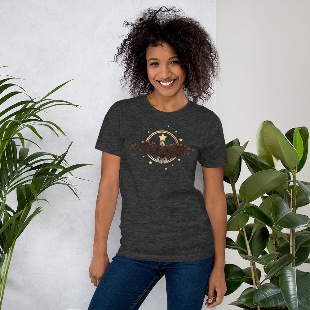 Eagle Sun Star t-shirt on model