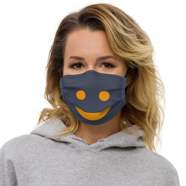 The Happy Channel® Smile Face Mask on Female Model