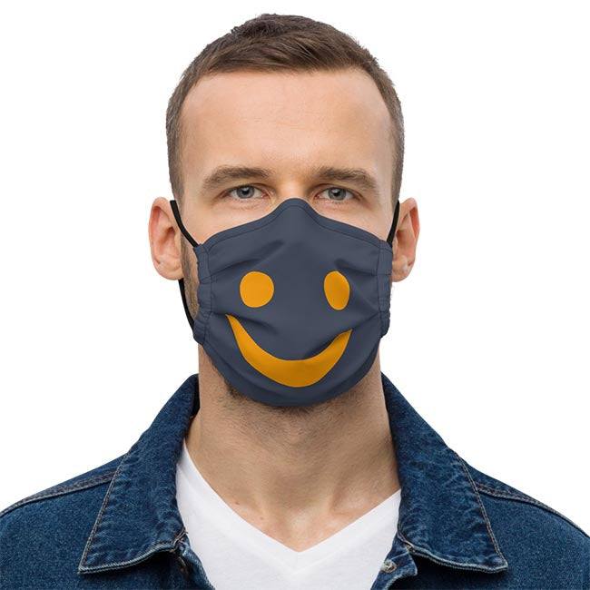 The Happy Channel® Smile Face Mask on Male Model
