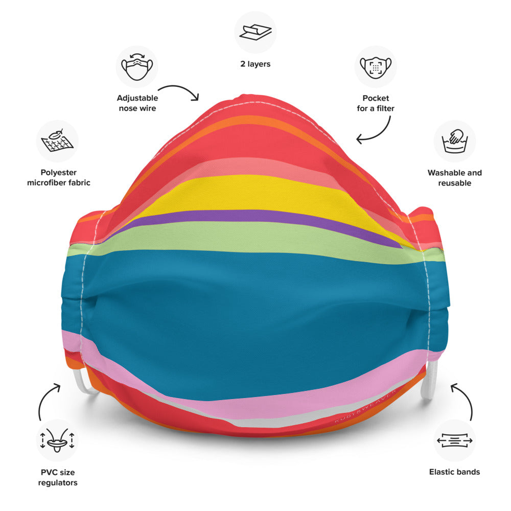 Vibrant Colors Reusable Premium Face Mask