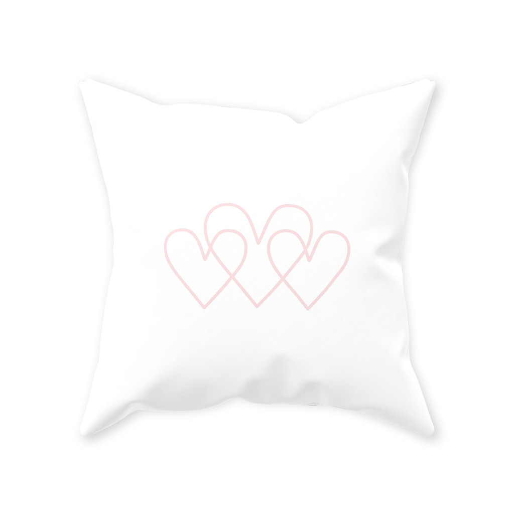 Open Your Heart Square Throw Pillows Ruby 8 Weaver