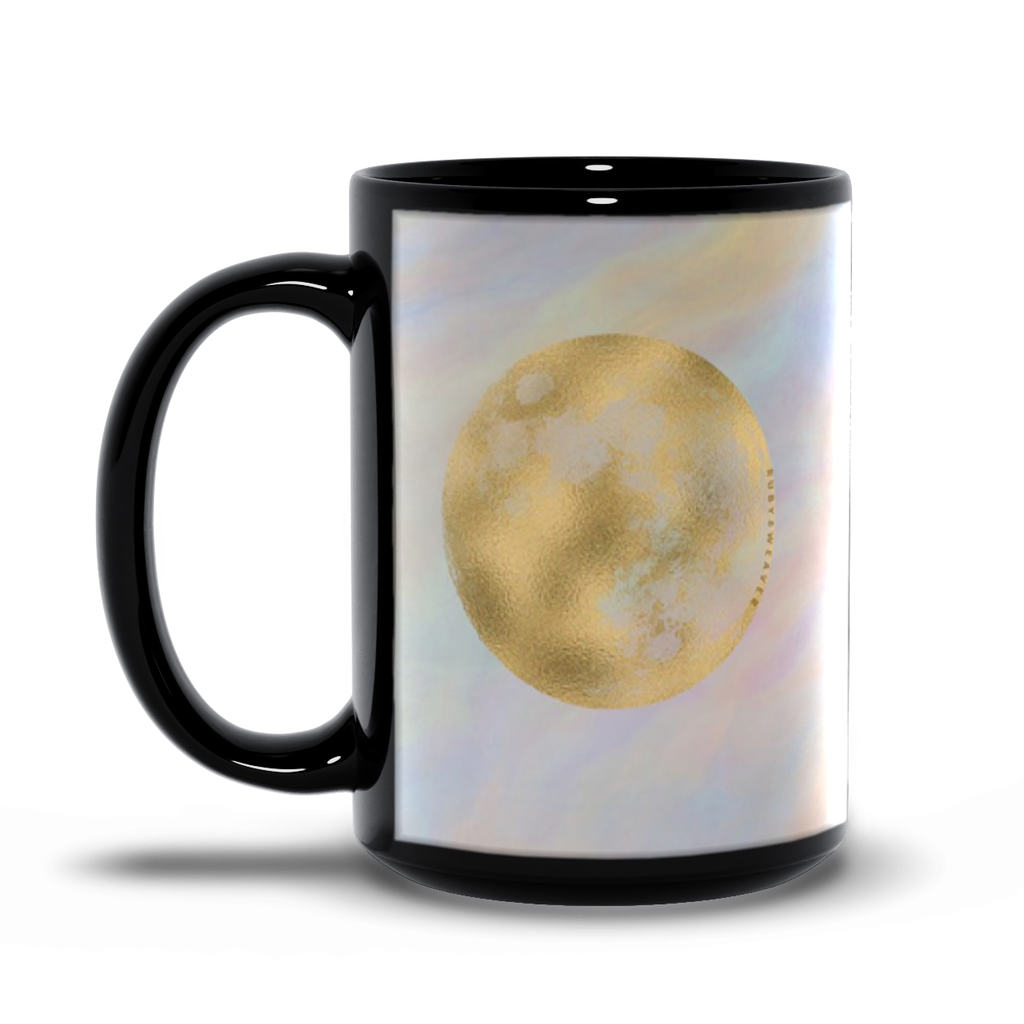 Full Moon Journey 15oz Black Mug