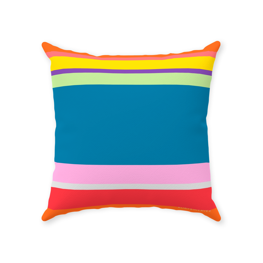 Vibrant Colors 18x18 Throw Pillow