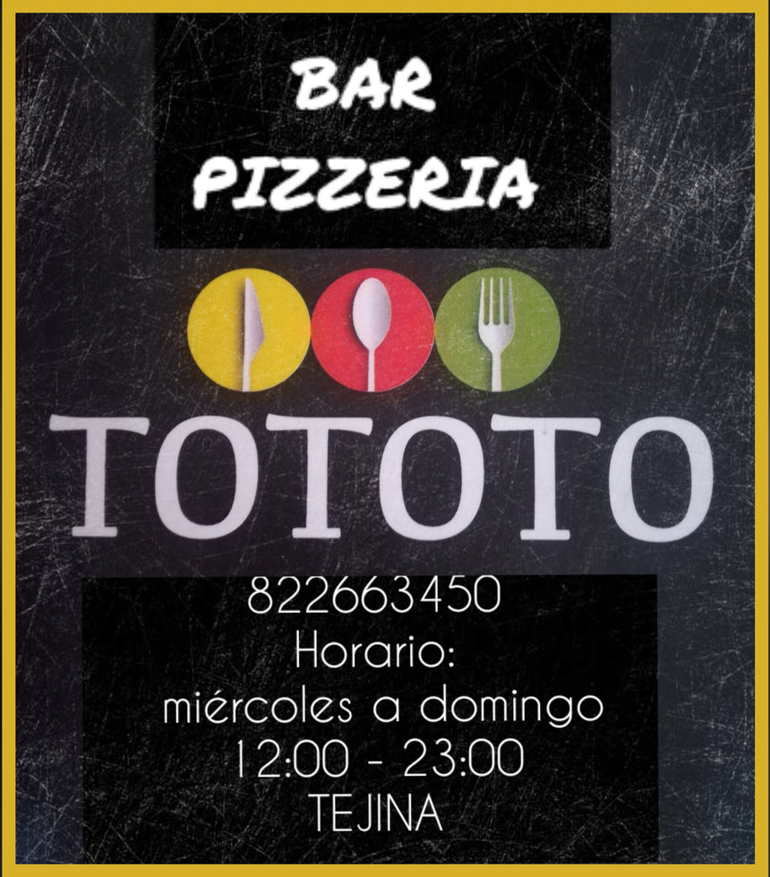 BAR PIZZERIA TOTOTO (38260) - Ticket Regalo