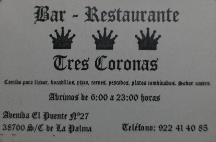 Bar 3 Coronas (38700) - Ticket Regalo