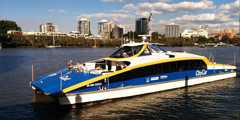 DOGS ON BRISBANE CITY CAT FERRIES TRIAL