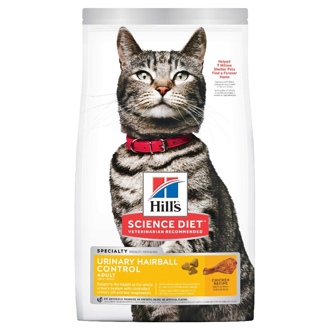 HILLS SCIENCE DIET CAT ADULT URINARY HAIRBALL 3.17KG