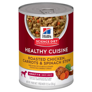 HILLS SCIENCE DIET DOG HEALTHY CUISINE CHICKEN CAN 354G