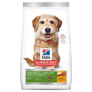 HILLS SCIENCE DIET YOUTHFUL VITALITY SMALL DOG 1.5KG